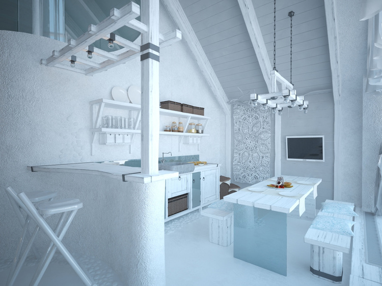 Total White Shophisticated Attic Space 5