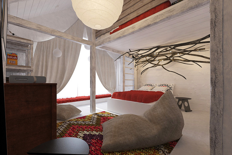 Total White Shophisticated Attic Space 8