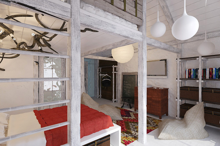 Total White Shophisticated Attic Space 9