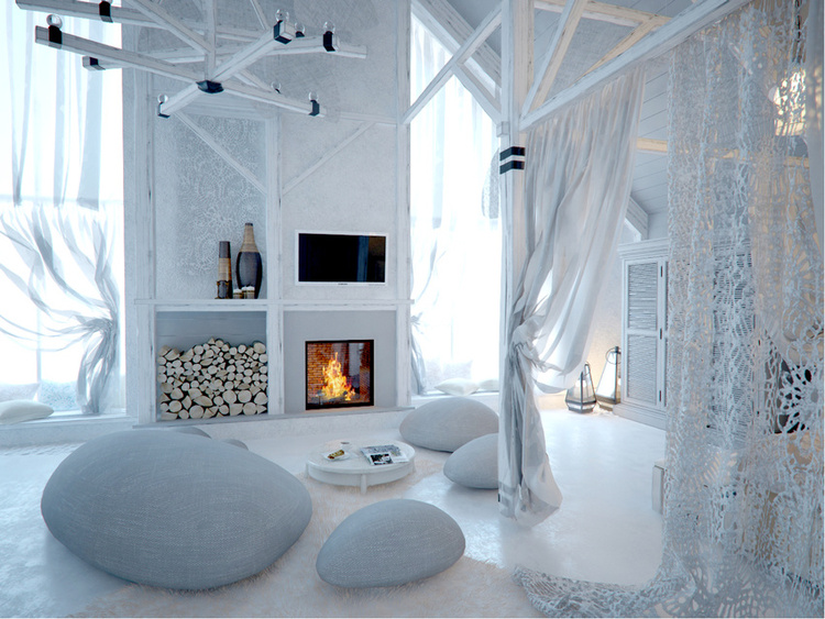 Total White Shophisticated Attic Space