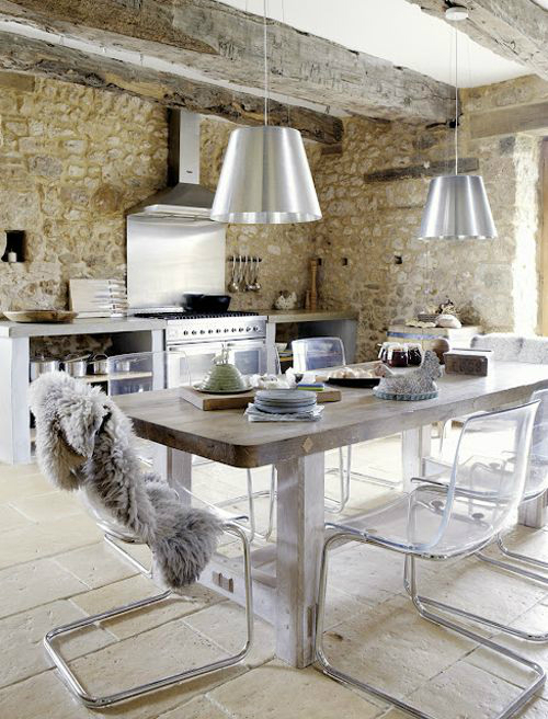 Kitchen Design Ideas with Stone Walls 11