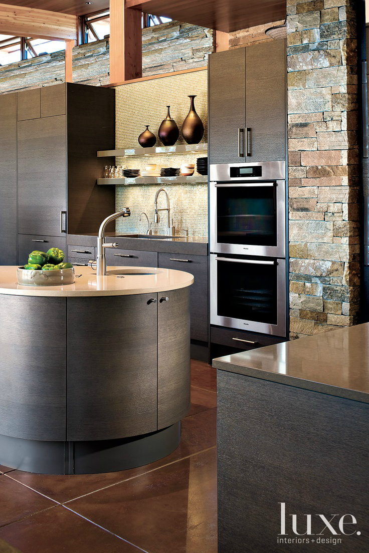 43 kitchen design ideas with stone walls decoholic for Cuisine moderne de luxe