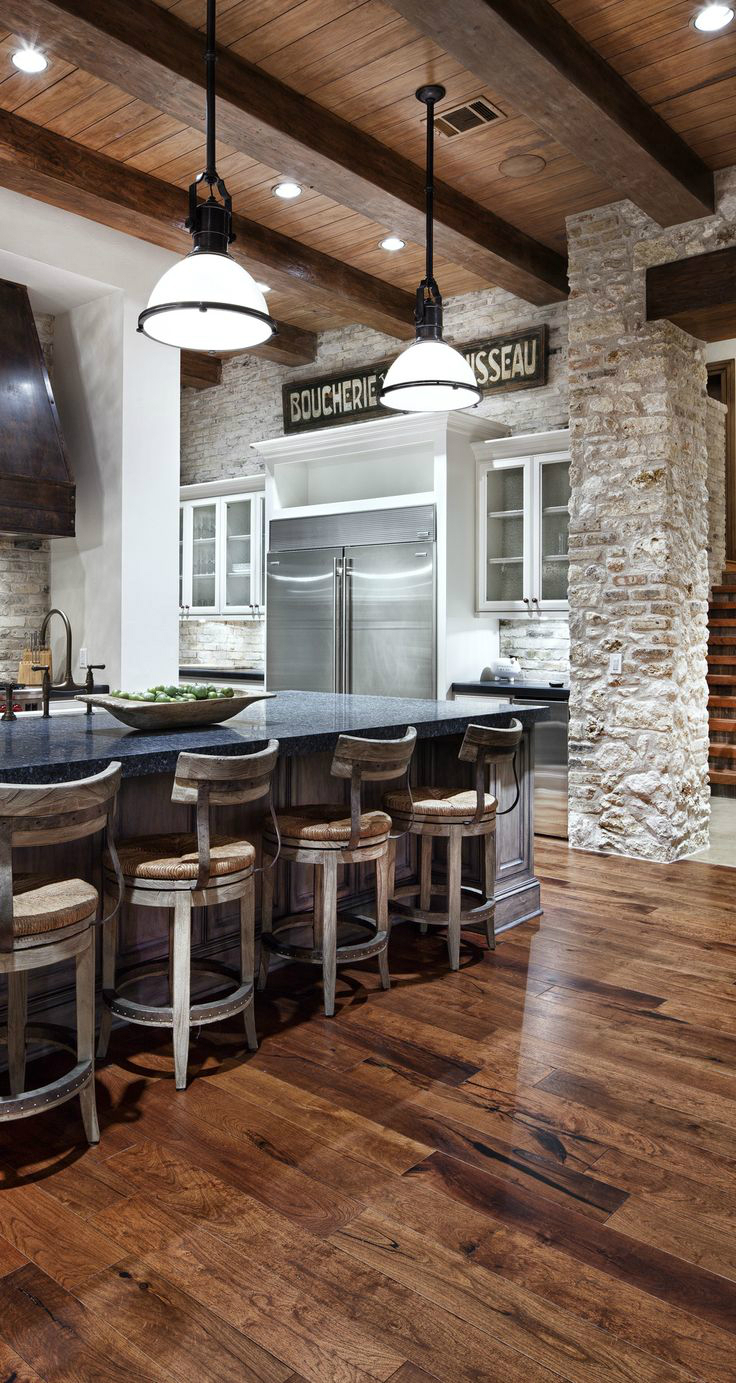Kitchen Design Ideas with Stone Walls 14