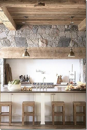 Kitchen Design Ideas with Stone Walls 17