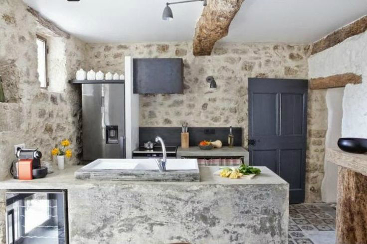 Beautiful Kitchen Design Ideas With Stone Walls
