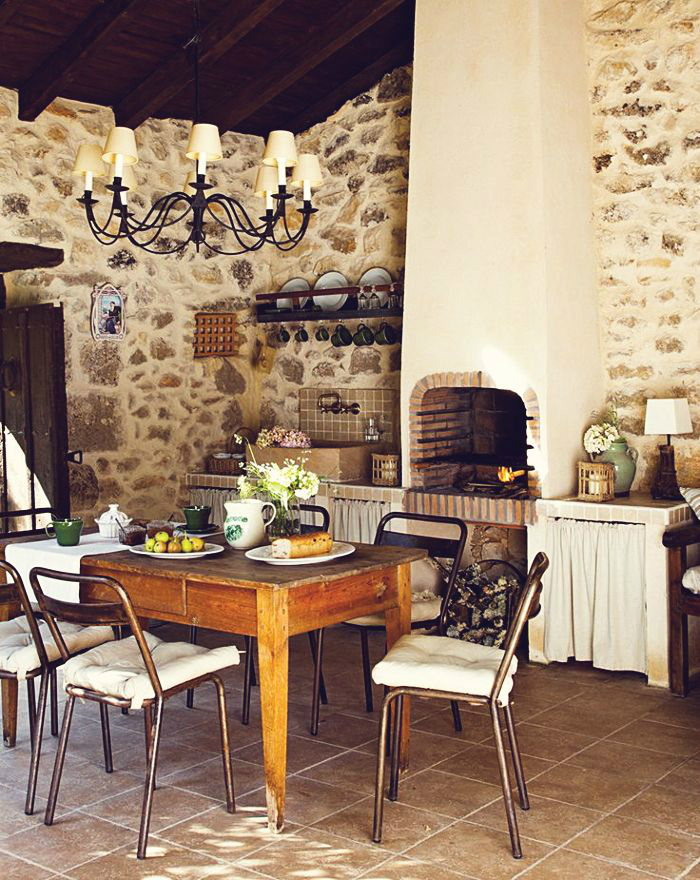 Kitchen Design Ideas with Stone Walls 19