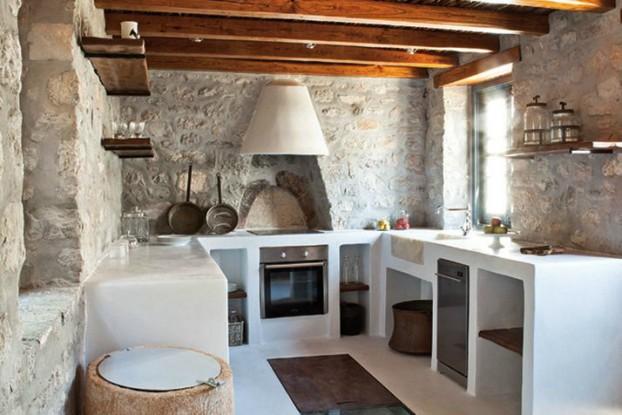 Kitchen Design Ideas with Stone Walls 2