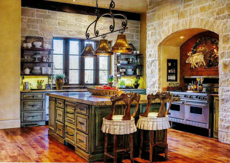 Kitchen Design Ideas with Stone Walls 23