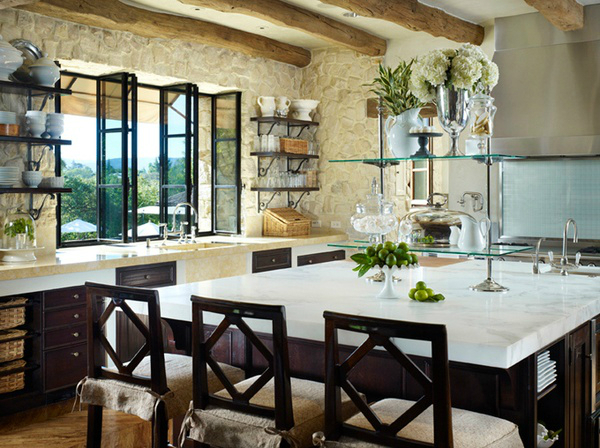 Kitchen Design Ideas with Stone Walls 24