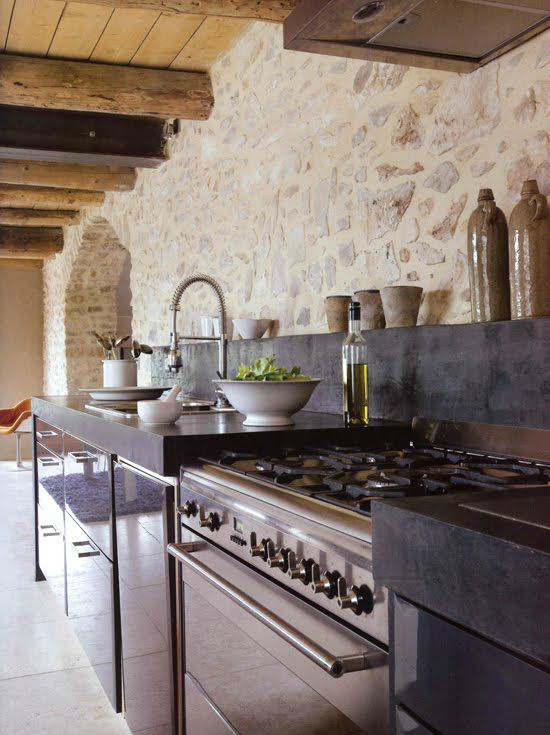 Kitchen Design Ideas with Stone Walls 28