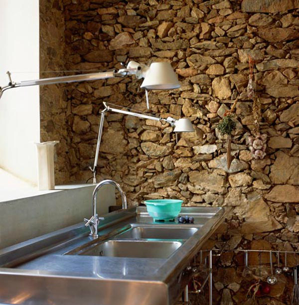 Kitchen Design Ideas with Stone Walls 32