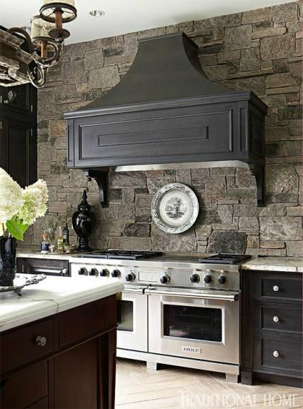 Kitchen Design Ideas with Stone Walls 36