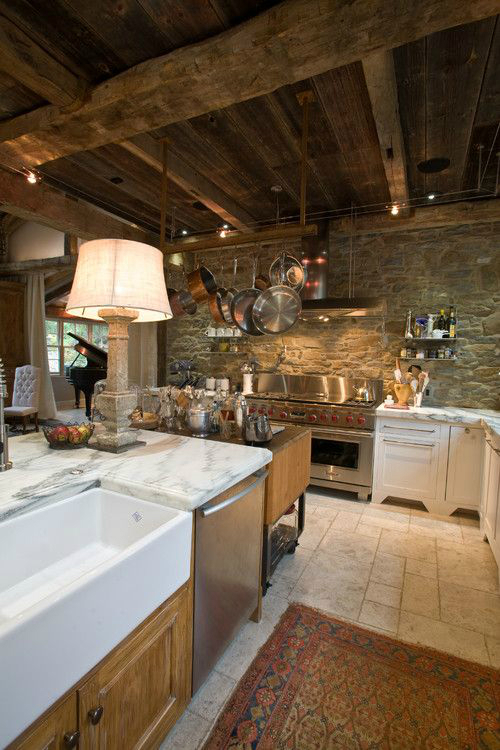 Kitchen Design Ideas with Stone Walls 37