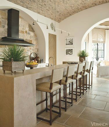 Kitchen Design Ideas with Stone Walls 4