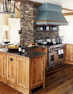 Kitchen Design Ideas with Stone Walls 44