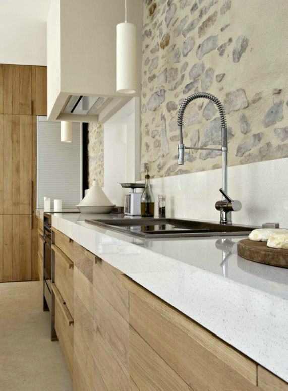 Kitchen Design Ideas with Stone Walls 6