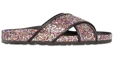 TATOOSH 10MM GLITTERED SLIDE SANDALS