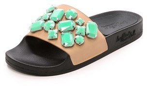 Loeffler Randall Cat Jeweled Slides
