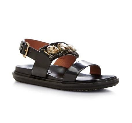 Embellished Leather Sandals by Marni