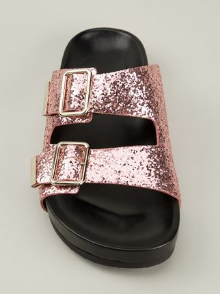 GIVENCHY glitter embellished sandals