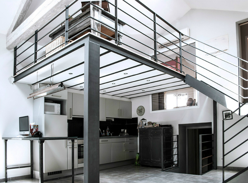 A Loft Space With Unique Dimensions And Cool Style 5