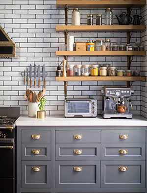 gray kitchen design idea 13
