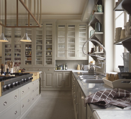 gray kitchen design idea 12