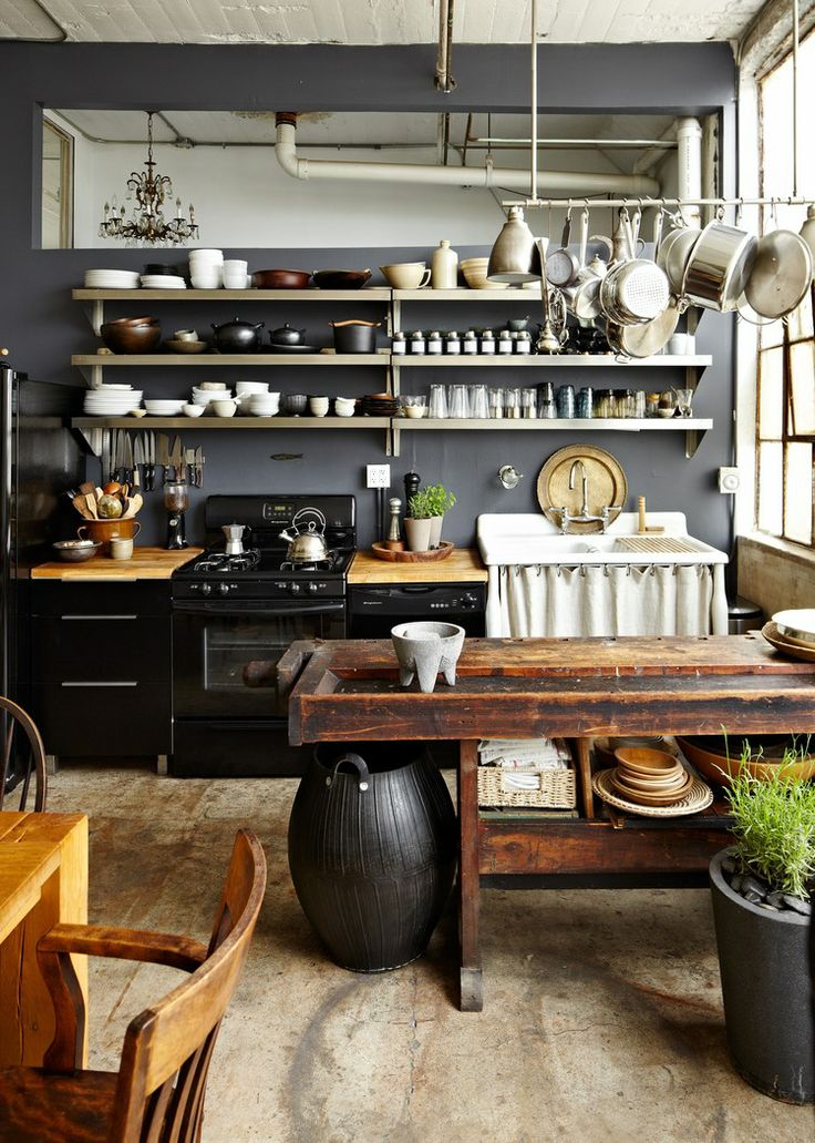 culinary stuff and wooden table