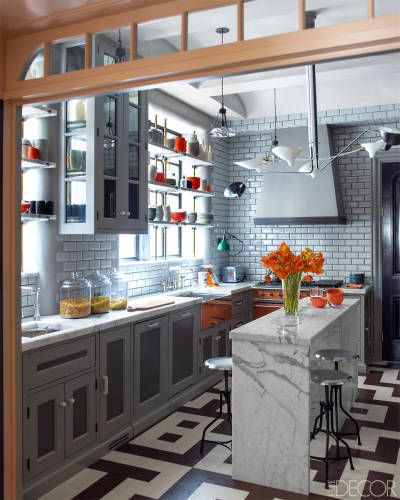 gray kitchen design idea 34