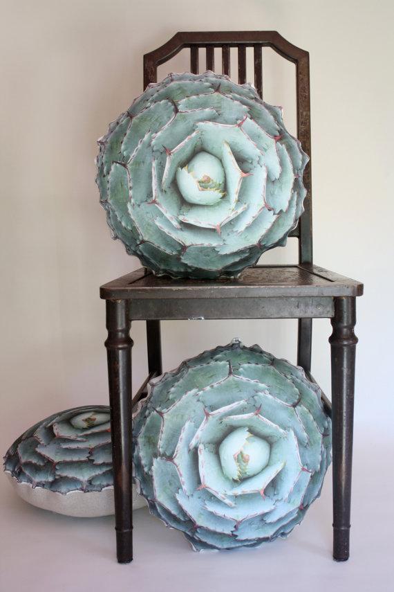 Agave Succulent decorative pillow