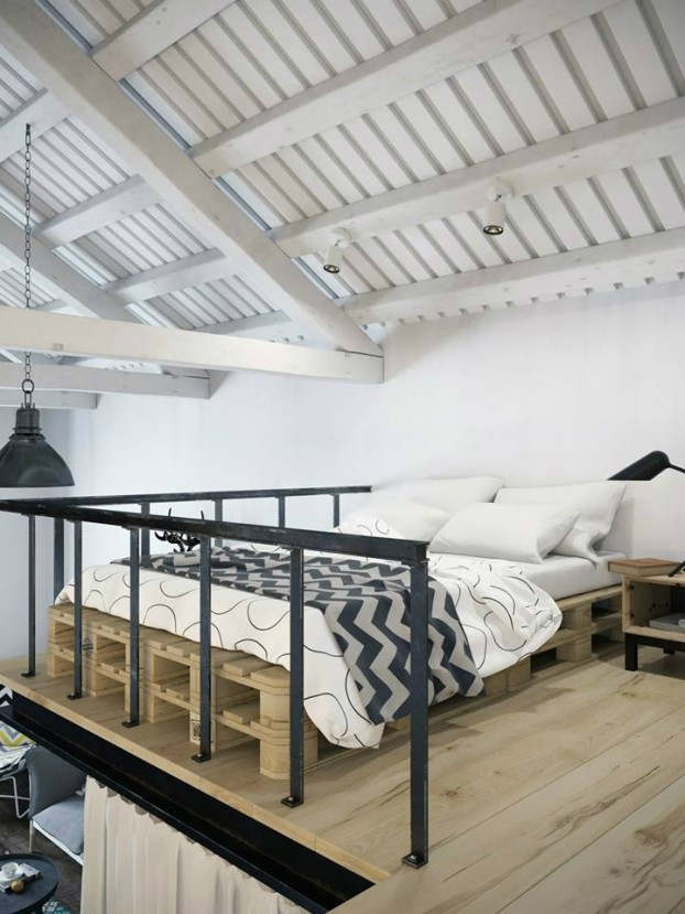 scandinavian loft apartment in the center of Prague 12