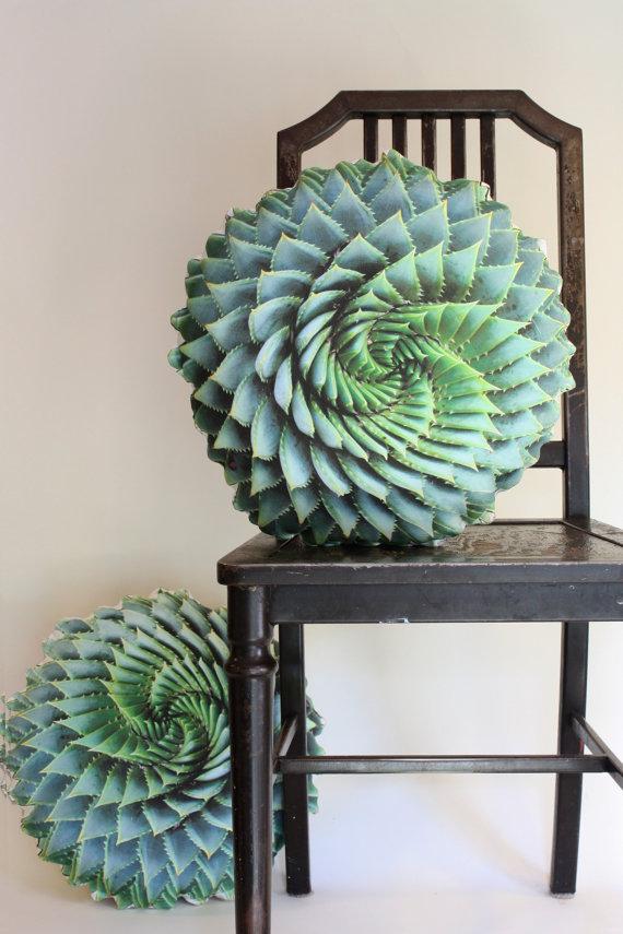 Spiral Succulent decorative pillow