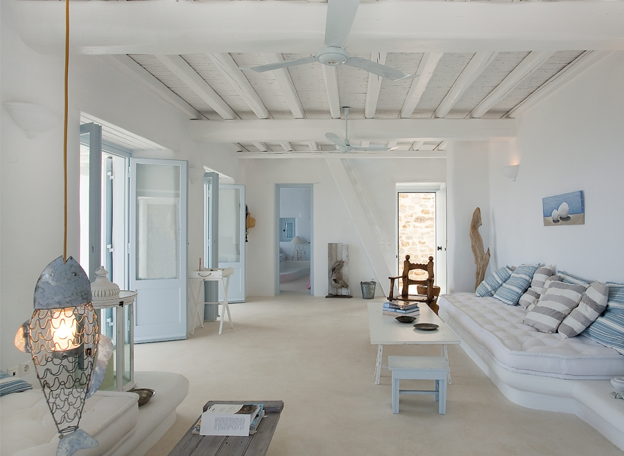 White stucco creates an inspiring vision decoholic for Greek interior design history