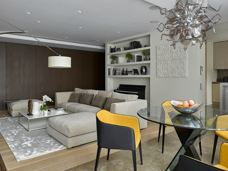 contemporary elegant apartment interior design by Fedorova 10