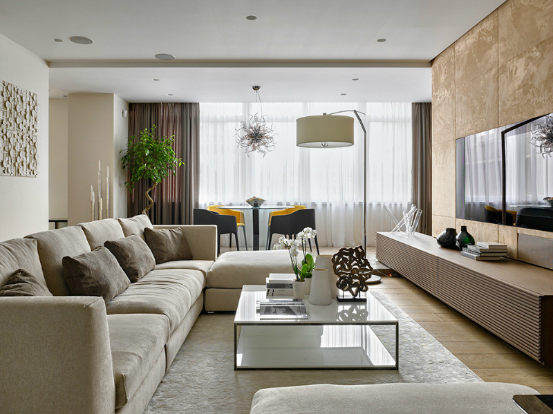 contemporary elegant apartment interior design by Fedorova 2