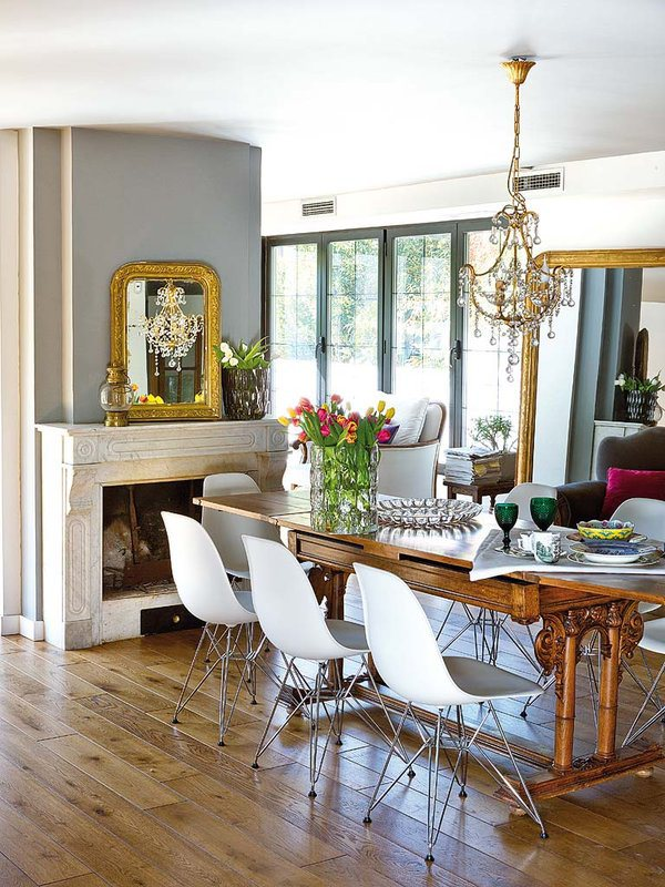 30 Ways To Create A Trendy Industrial Dining Room: An Elegant View Of Bohemian Decor