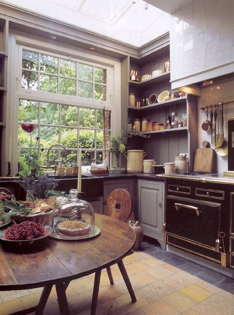 gray Kitchen Open Shelves Idea