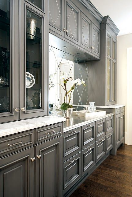gray kitchen design idea 45