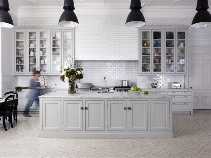 gray kitchen design idea 46