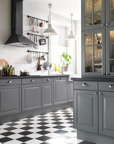 gray kitchen design idea 50