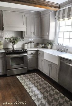 gray kitchen design idea 53