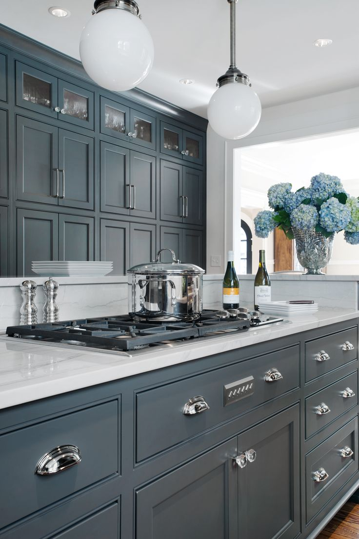 dark gray kitchen designed by the talented atlanta based kitchen
