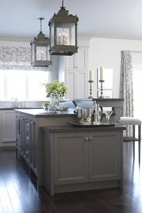 gray kitchen design idea 70