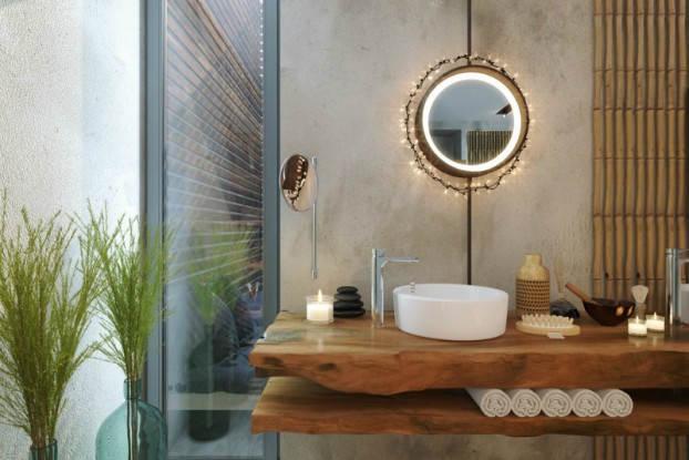 Bathroom: Natural Zen Like Elegance