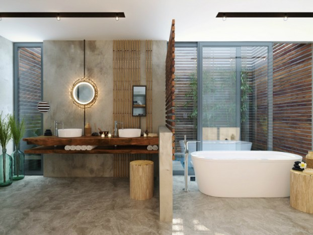 Bathroom: Natural Zen Like Elegance 7