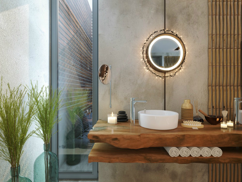 Bathroom natural zen like elegance decoholic for Salle de bain deco nature