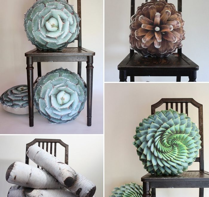 nature inspired handmade decorative pillows