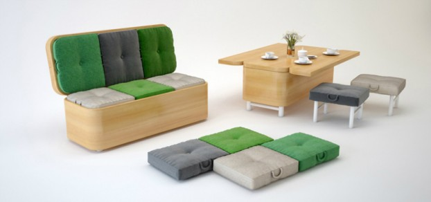sofa that can then convert into a dining table