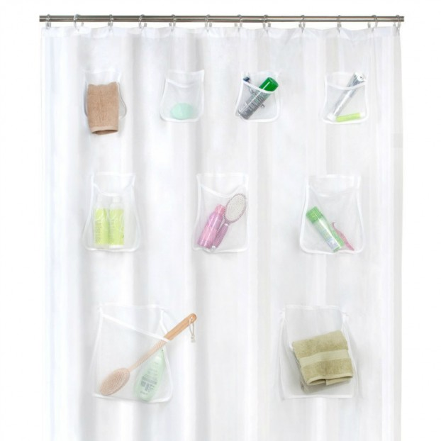 Shower Curtains With Pockets