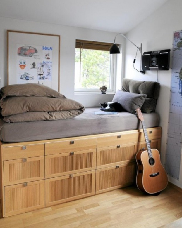 Bed Can Double Up as Storage